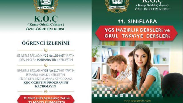 Çekmeköy Koç  Öğretim Broşür Tasarım Çalışması
