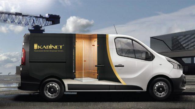 Kabine araç kaplama tasarım ve reklam çalışması
