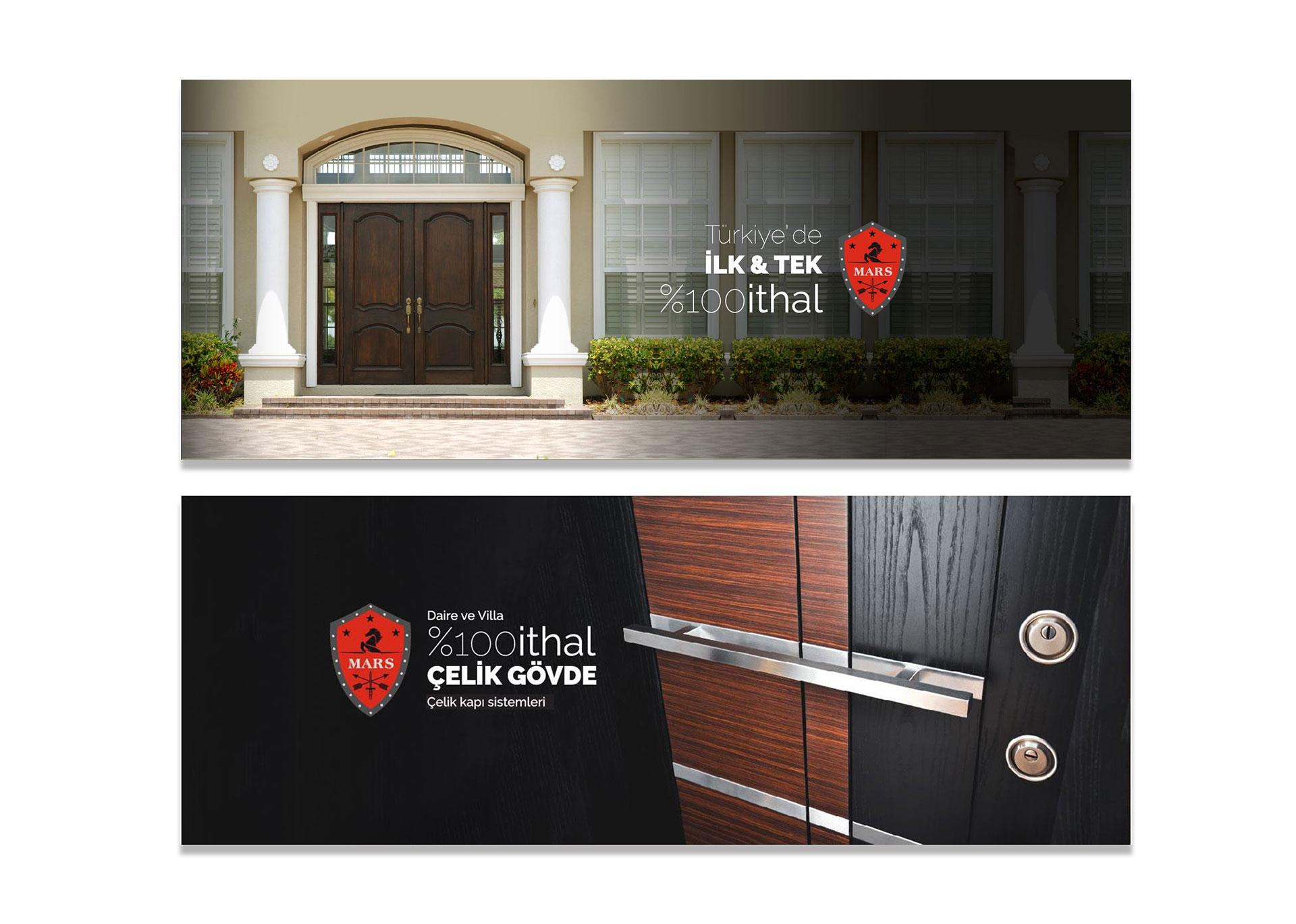 mars çelik kapı web tasarım ve arayüz tasarım çalışmaları finali