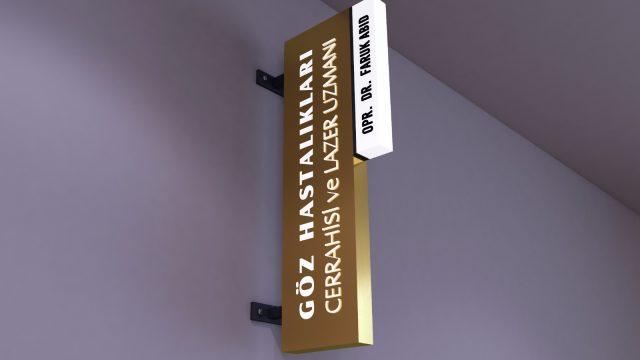 Tabela Tasarım Örnek Gold krom tabela