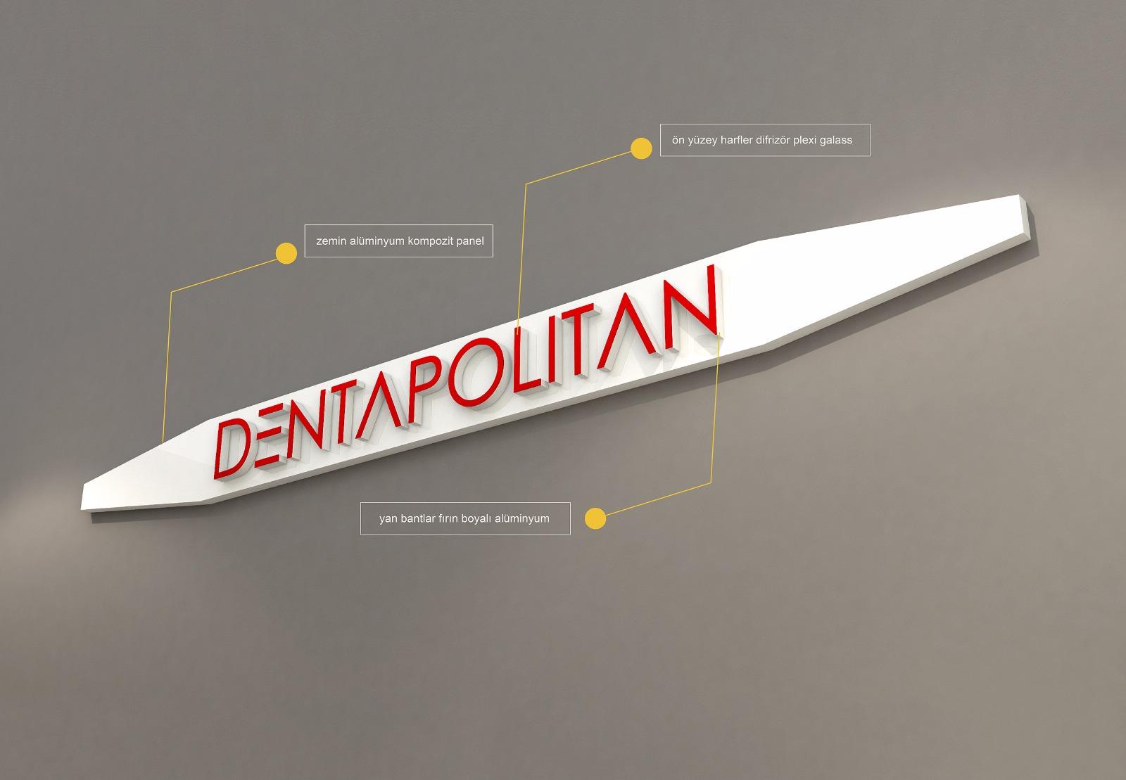 Dentapolitan Cephe Tabela 3dTasarım Çalışması