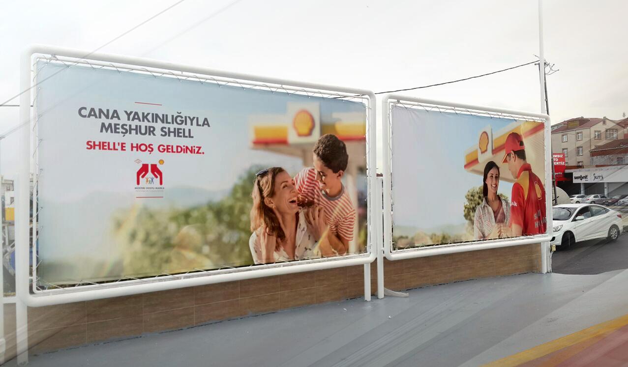 shell benzinlik reklam çalışmaları