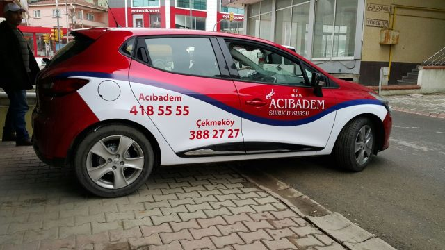acıbadem sürücü kursu araç reklam kaplamaları