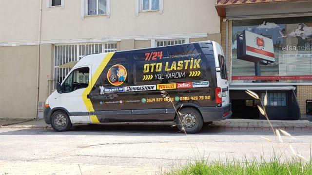 Araç Kaplama Reklamları (Oto lastik yol yardım)