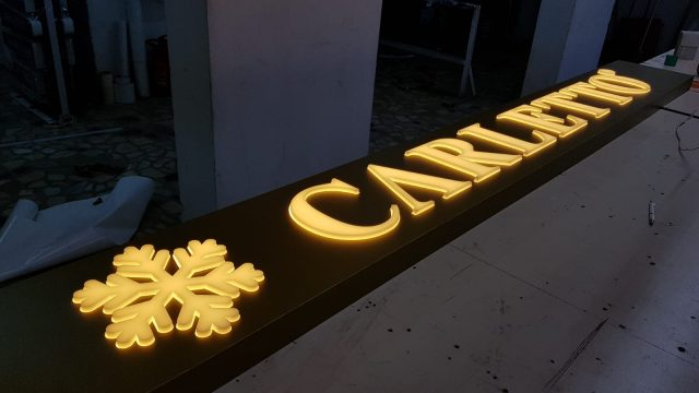 carletto ışıklı tabela 10mm rakı plexi kabartma harf
