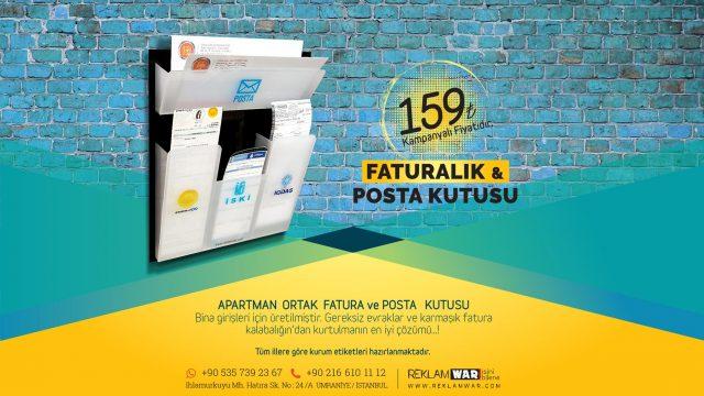 Apartman Fatura Kutusu ve posta kutusu imalatı 159₺ KAMPAMYA
