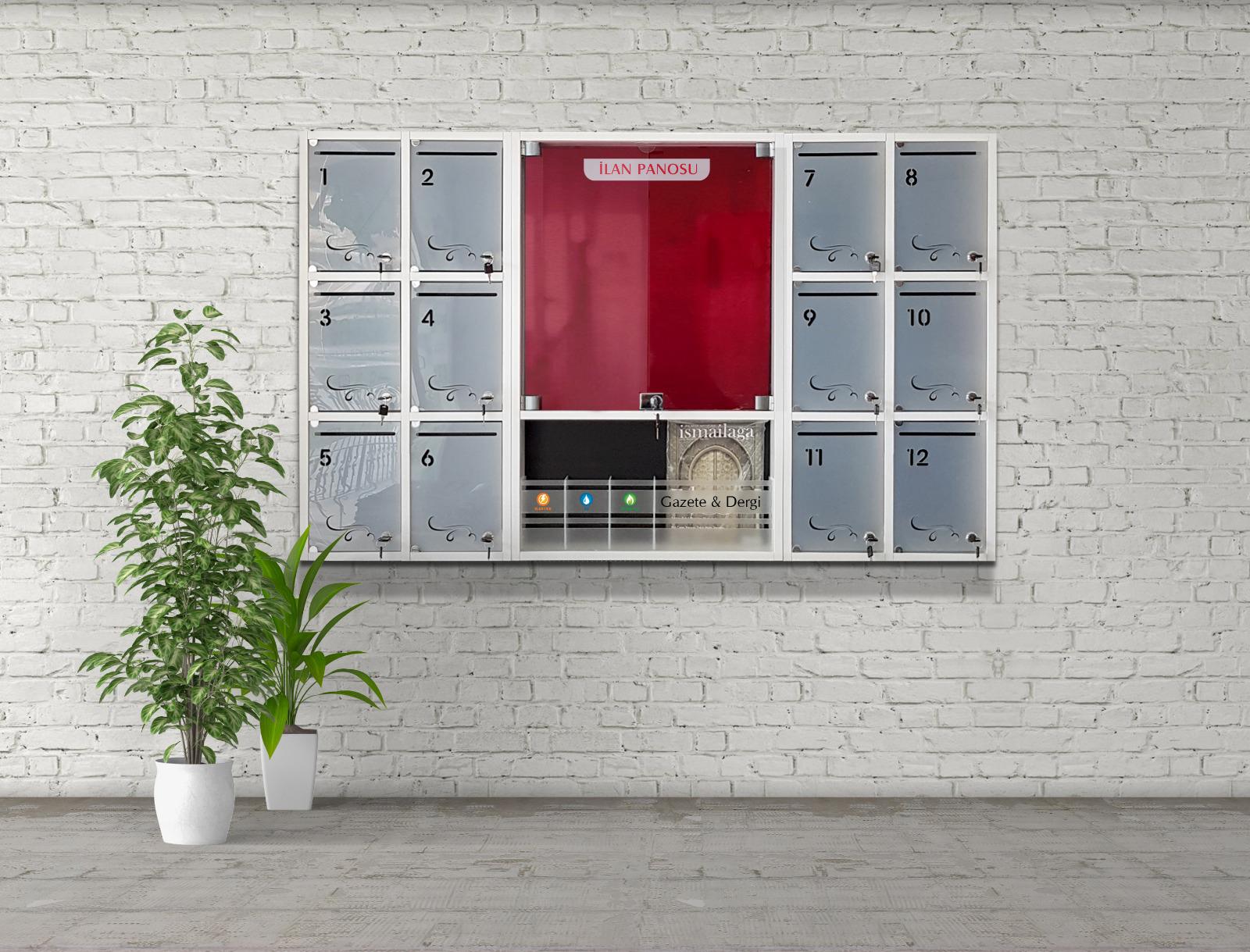 Yeni Tasarım Modüler Apartman Posta kutusu